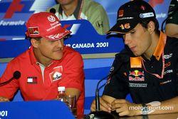 Thursday basın toplantısı: Michael Schumacher ve Enrique Bernoldi