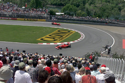 two Ferraris, hairpin