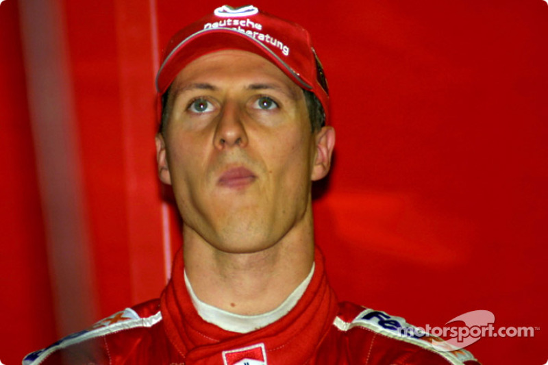 Michael Schumacher, watching qualification