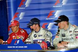 Conferencia de prensa: Michael Schumacher, Ralf Schumacher y Mika Hakkinen