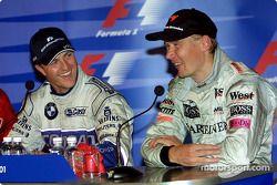 basın toplantısı: Ralf Schumacher ve Mika Hakkinen