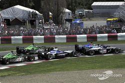 start: Mika Hakkinen, Nick Heidfeld, Juan Pablo Montoya, Eddie Irvine ve Pedro de la Rosa