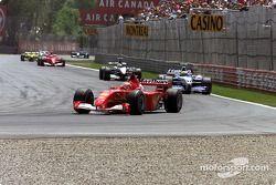Premier tour : Michael Schumacher, Ralf Schumacher et David Coulthard
