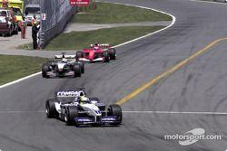 Ralf Schumacher, David Coulthard et Rubens Barrichello