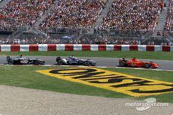 Michael Schumacher, Ralf Schumacher et David Coulthard