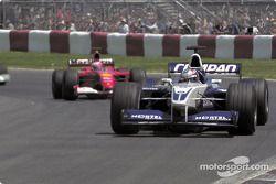 Juan Pablo Montoya et Rubens Barrichello