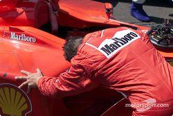Michael Schumacher après la course