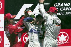Michael Schumacher, Ralf Schumacher en Mika Hakkinen