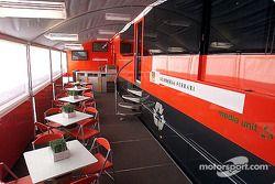 Visite de l'unité média Ferrari