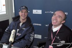Ralf Schumacher, here with Frank Williams, agrees a new contract with the BMW WilliamsF1 Team