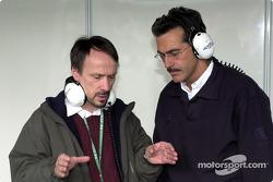 BMW Head, F1 Construction Heinz Paschen ve BMW Motorsport Direktör Dr. Mario Theissen