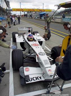 Pitstop antrenmanı, morning for Jacques Villeneuve