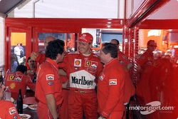 Luca Baldisseri, Michael Schumacher et Jean Todt