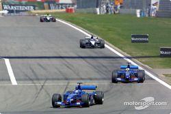 Jean Alesi, Luciano Burti, Fernando Alonso and Tarso Marques