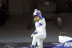 Juan Pablo Montoya after race