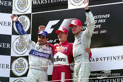 Podyum: Juan Pablo Montoya, Michael Schumacher ve David Coulthard