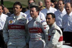 Los pilotos del Audi #2: Rinaldo Capello, Christian Pescatori, Laurent Aiello