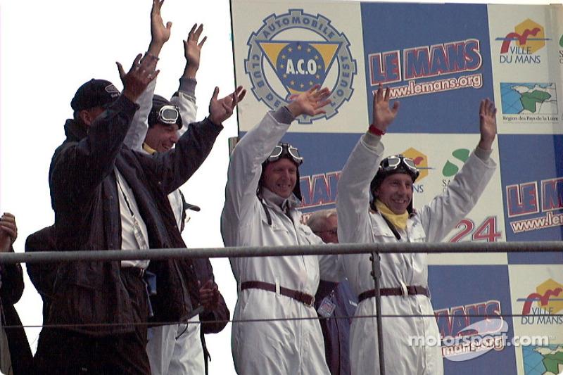 Team Bentley guys: Andy Wallace, Eric Van De Poele and Butch Leitzinger