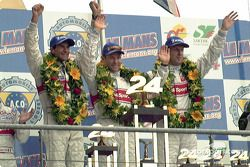 Winnaars: Emanuele Pirro, Tom Kristensen en Frank Biela