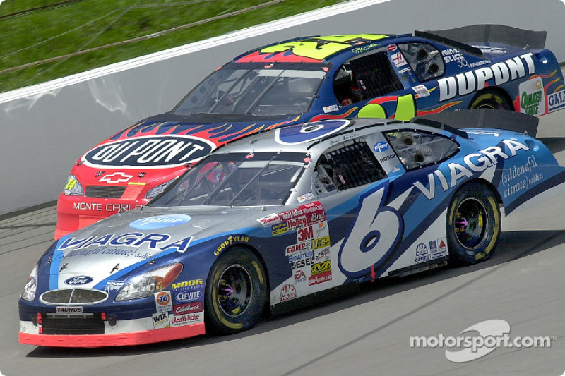 Mark Martin and Jeff Gordon