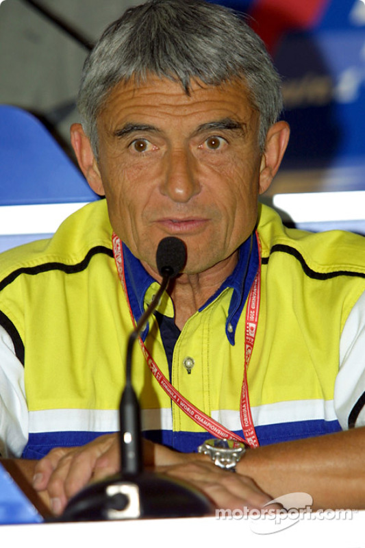 Pierre Dupasquier at the press conference