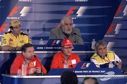 Conferencia de prensa de FIA del jueves: Michael Schumacher, Jarno Trulli, Pierre Dupasquier, Enriqu