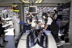 Ralf Schumacher en el garage