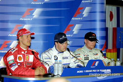 Conferencia de prensa: Michael Schumacher, Ralf Schumacher y David Coulthard