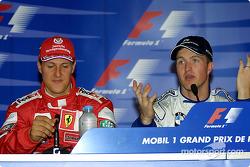 Conferencia de prensa: Michael Schumacher, Ralf Schumacher y David Coulthard
