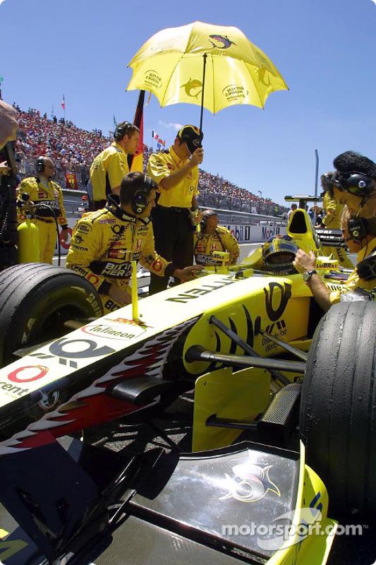 Heinz-Harald Frentzen on the grid