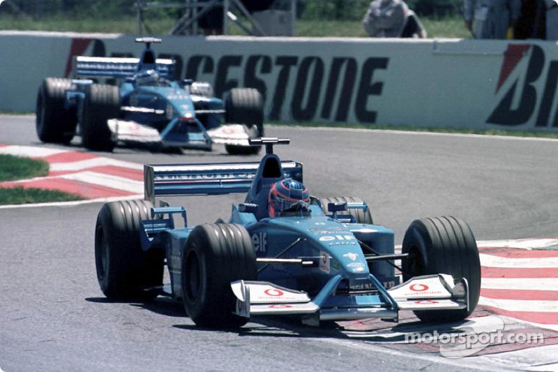 Jenson Button ve Giancarlo Fisichella