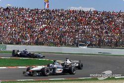 David Coulthard, Olivier Panis y Juan Pablo Montoya