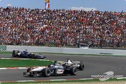 David Coulthard, Olivier Panis et Juan Pablo Montoya