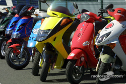 Scooter starting grid