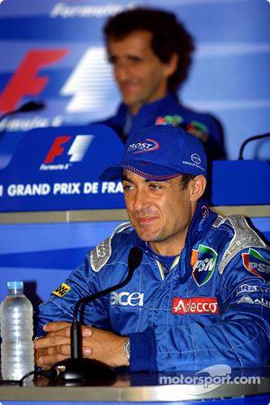 Conferencia de prensa: Jean Alesi y Alain Prost