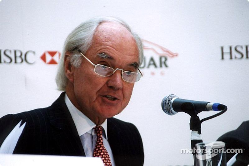 Jaguar Racing and HSBC renew sponsorship: Sir John Bond at British GP