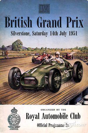Poster du GP de Grande-Bretagne 1951