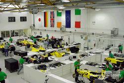 Jordan, basada en Silverstone, alistándose para el Gran Premio Británico