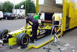 Silverstone-based Jordan getting ready for the British GP