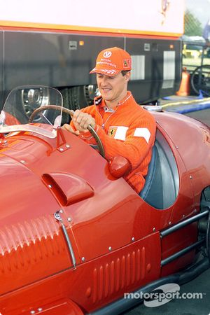 Michael Schumacher at the wheel of the 375 F1