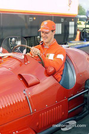 Michael Schumacher au volant de la 375 F1