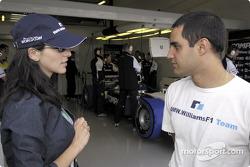Juan Pablo Montoya con su novia Connie