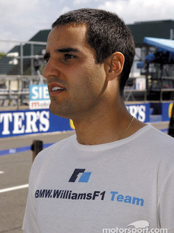 Juan Pablo Montoya getting ready