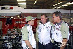 Jacques Villeneuve and Craig Pollock before the race