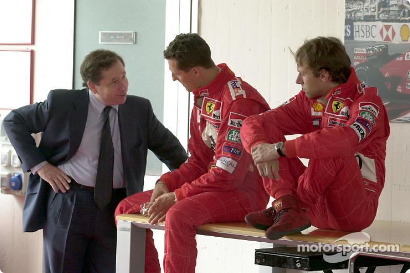 Jean Todt, Michael Schumacher ve Luca Badoer