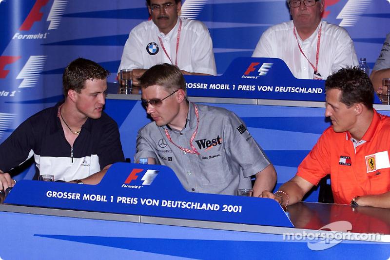 FIA Thursday press conference: Ralf Schumacher, Mika Hakkinen and Michael Schumacher