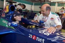 Peter Sauber con un invitado