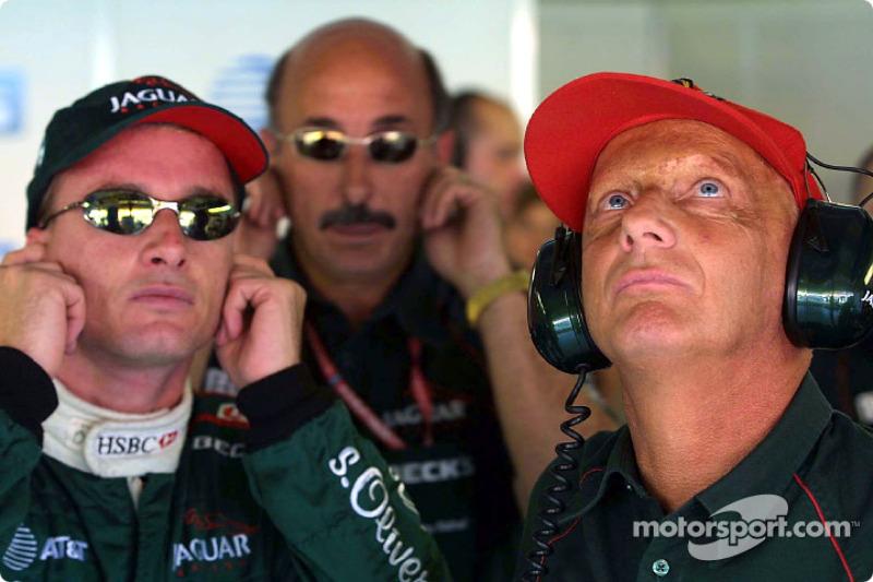 Eddie Irvine, Bobby Rahal and Niki Lauda