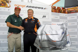 Premier Performance Division to supply Cosworth V10 engines to OrangeArrows: Niki Lauda and Tom Walkinshaw