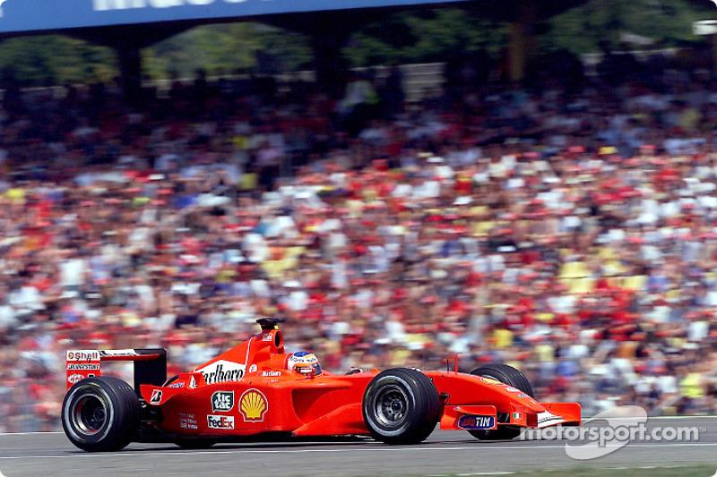 Principal nome do Brasil na F1, Rubens Barrichello tentava repetir uma vitória na Alemanha em 2001 após seu triunfo épico em 2000.